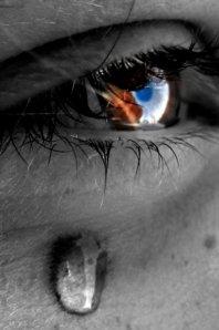 tears falling